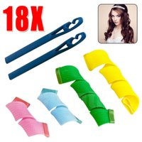 Wholesale Amazing Magic Leverag Hair Curlers Curl formers Hair Rollers Styling Fashion and easy Curling Tools with opp bag DHL Towoto