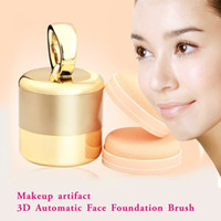 alj-3Dhzs-qzd-23 bb massage - 3D Automatic Face Foundation Brush puff Makeup brush facial foundation brush BB cream foundation makeup facial massage beauty makeup