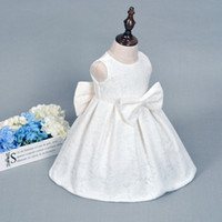 Wholesale 1set Baby Girl Baptism Christening Gowns Year Girls Baby Birthday Dress Princess Girls Ceremonies Party Dress Baby Clothing