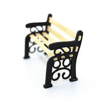 Wholesale 2016 New Hot Sale Dollhouse Miniature Garden Patio Furniture Park Bench Christmas Toys For Children