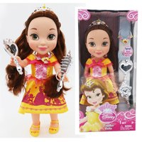 Wholesale Belle dolls cm the princess dolls with beautiful coloth girls party love cute kids gift lovely dolls