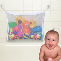 bathroom suction cups - Baby Bathroom Mesh Bag Suction Cup Bag Mesh Bathroom Organizer Net Kids Bath Tub Toys baby Bathroom Shower Toys VCI30 P30