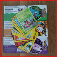 2 to 5 years ball for game - New Poke Game Trading Cards Games English Pocket Monsters poke ball Pikachu Cards Poker Battle Flash card For Children Learning Toys