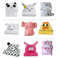 animal head blankets - New New style M baby flannel animal head children blankets cm newborn girl and boy supersoft outfit cloaks