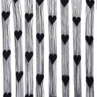 Wholesale Fringe Rope Heart Screen door curtain Black