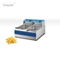 Wholesale Double Basket Countertop Commercial Electric Deep Fryer For Sale