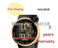 analogue box - New Special Edition Digital Analogue Gold Case Black Rubber quartz Men s Watch YA114215 YA Ditital Wristwatch Original Box