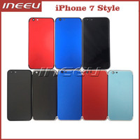Wholesale New iPhone Style Housing For iPhone Aluminum Metal Back Battery Door Cover Replacement DHL Free Ship