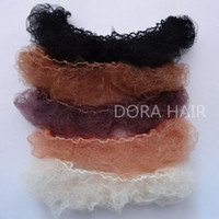 Wholesale whole sale hairnet mm nylon hair nets invisible disposable hair net inch five colors mix black dark brown brown blonde