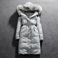 Wholesale Luxury Long Down Canada Jacket Christmas Thick Coats For Women Keep Warm Outwear Parkas Winter Clothing Dress Drop Shipping