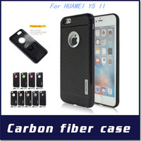 Wholesale Motomo Armor case For HUAWEI P8 lite P9 lite Y3 II Y5 II Y6 II IN Carber Fiber TPU Cover