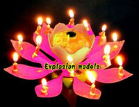 best birthday cakes - Romantic Blossom Lotus Flower Candle Birthday Party Cake Musical Candle Music Sparkle Waterproof Candle flame The best birthday present