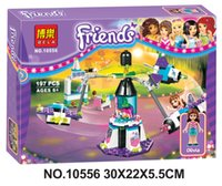 amusement theme park - New girl series amusement park theme children puzzle building blocks toys