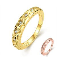 beauty couples - 24K Yellow Gold K Rose Gold Plated Ring for Women Men Hollowed Design Setting Inlaid Row of CZ Diamonds Wedding Ring Beauty Couple Ring