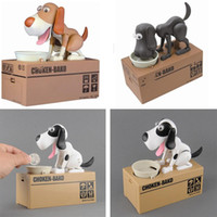 banking savings - Quality Mechanical Adorable Puppy Hungry Robotic Dog Kid Coin Bank Save Saving Box Collection Piggy Bank Gift