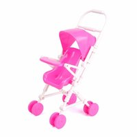 baby girl nursery furniture - Pink Baby Stroller Doll Accessories Baby Carriage Stroller Trolley Nursery Doll Furniture Toys For Doll Girls Gifts