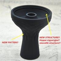 Wholesale NEW ONE Hole Silicone Shisha Hookah Bowl Silicone Head For Shisha Charcoal Hose Moth Tips Ceramic Bowl Foil