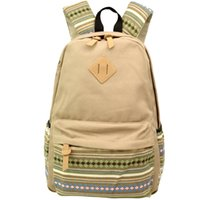 backpack buyers - US BUYER Khaki Canvas School Bag Backpack Girls Boho Style Unisex Fashionable Canvas Zip Backpack School College Laptop Bag for Teens Girls