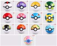 Wholesale Separate the ball no elf Pokeball toy pocket monster ball Cute Poke Ball Pokeball Anime Pikachu Super Master Ball Action Figures Toys