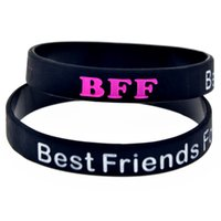 bff wristbands - BFF Best Friends Forever Silicon Wristband Bracelet Colour Filled In Adult Colours