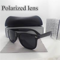 achat en gros de les hommes de luxe lunettes-Lunettes de soleil polarisées de luxe pour les hommes de femmes de mode Marquez les lunettes de soleil de lunettes de couleur de noir de léopard 4 de concepteur Unisex de qualité supérieure avec tous les cas