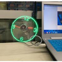 Wholesale USB clock fan USB luminous clock fan USB true clock Led ShanZi fan factory direct sale
