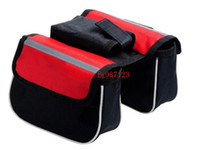 Wholesale Hot sale Waterproof Colors Double Sides Saddle Cycling MTB Bicycle Bags Sport Frame Front Tube Bike Bag For Ourdoor Cycling
