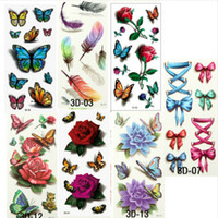 beautiful body art - 35Pcs Beautiful Cute Sexy Body Art Beauty Makeup Cool Waterproof Temporary Tattoo Stickers For Girls And Man