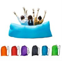 Wholesale Outdoor Inflatable Air Sleeping Bag Portable Sofa Hangout Lounger Air Boat Air Lazy Sofa Inflate Camping Beach Sleeping Bed OOA1347