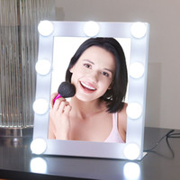 Wholesale 2017 Hollywood style mirrors with bulbs vanity mirror led light theatrical makeup mirror