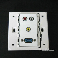 Wholesale Good Design x86mm Wall Panel Socket With RCA Audio Video VGA Port For Home Office Hotel Using