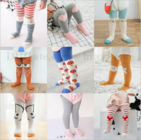 Leggings & Tights baby panty hose - Baby Cartoon Pantyhose Fashion Panty hose Girl Cotton Leggings Animal Print Stockings Stripe Tights Dancewear Pants Trousers Underpants