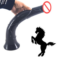 Wholesale 16 inch Super long realistic dildo suction big horse dildo artificial penis huge animal dildo sex toy for women sex product
