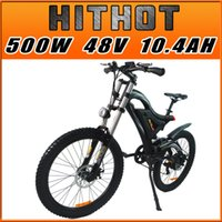 bicycle alloy - In Stock Addmotor HITHOT Mountain Electric Bicycle H5 Sport High Fork Black V W AH quot Fork Suspension Comparable Electric Bike