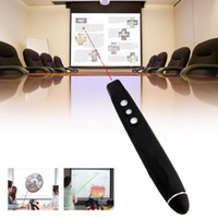 Wholesale Hot Sale Wireless USB PowerPoint PPT Presenter Desktop Laser Pointer Pen USB RF Remote Control PPT Clicker