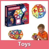 Wholesale Magformers Rainbow Magnetic Building Blocks Children Educational Toys Triangle Square