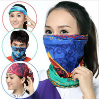 Printed Dobby Handmade Wholesale 3pcs Men Summer Circle Neck Scarf Band Balaclava Mens Spring Infinity Tube Scarves Women Sun Balaclavas Head Bandana 150 style