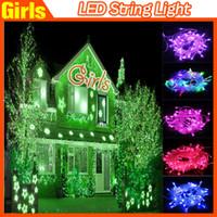 Wholesale New Arrival LED String Light colors M LED bulb Xmas Christmas Wedding Party Decorative lamp V V Hot selling