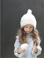Wholesale In the new Winter Cap women s winter thick cold knitted wool hat fashion Princess Hat