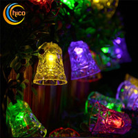 bell power - Solar string lights small bell light string led christmas lights led solar lights M LEDs Solar power outdoor waterproof For Garden