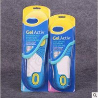 Wholesale SCHOLL GEL ACTIV Soft Slica Gel Damping Memory Foam Insoles for Men Women Movement Suction Sweat Thickening Insoles CCA5238 pair