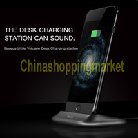 Wholesale Baseus Charger dock docking For iPhone Plus S Plus Universal Hot Sale Desktop Small volcano charger