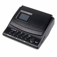 Wholesale Y4308Z Best Professional Digital Voice Recorder Phone Call Monitor with LCD Display Caller ID Clock V V Telephone Recorder