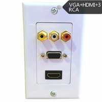 av wall outlet - HDMI VGA RCA AV Wall Plate Composite Video Audio Adapter Jack Outlet HDTV pABS