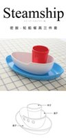 Wholesale Melamine The ship model tableware three piece suit set of