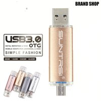 Wholesale Suntrsi Metal USB Flash Drive Customized logo USB OTG Pen drive gb gb gb USB Stick gb Pendrive For PC Android Phone