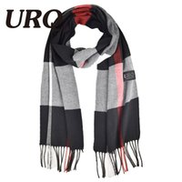 Wholesale cm New Style Sale Brand Luxury Womens Mans Check Striped Long Cashmere Wool Soft Warm Shawl Scarf A3A17741