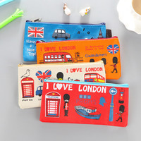 Wholesale 2017 British Style Over London s Oxford Brad chain Bag Student Pencil Case Cosmetic Bag Free DHL XL A142