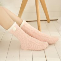 Wholesale Thicken warm home socks colors available Home socks Non slip home socks