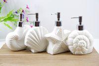 Wholesale Ceramic Emulsion Bottle High Grade Wash Auspicious Supplies Bathroom Wash Suit Brush Starfish Hells Big Conch Small Conch